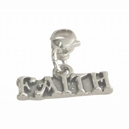 Faith Charm on Lobster Clasp